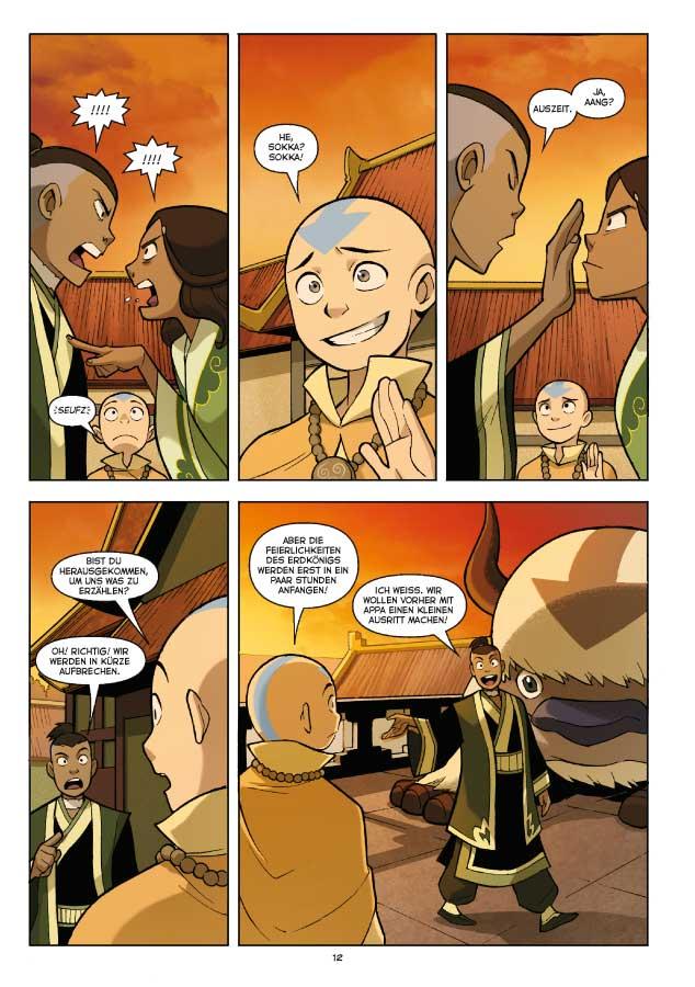 Seite aus Avatar – Das Versprechen 1