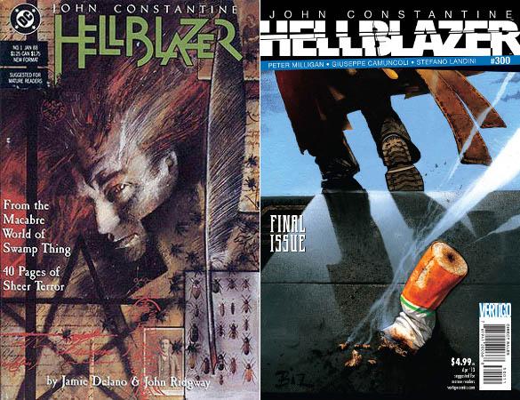 Cover des ersten und letzten Hefts von Hellblazer