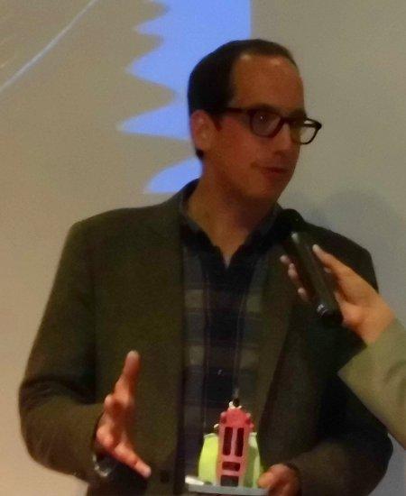 Christoph Niemann bei der Sondermann-Verleihung auf der Frankfurter Buchmesse 2012