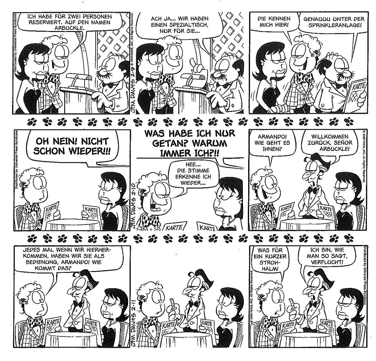 Seite aus Garfield Gesamtausgabe 16
