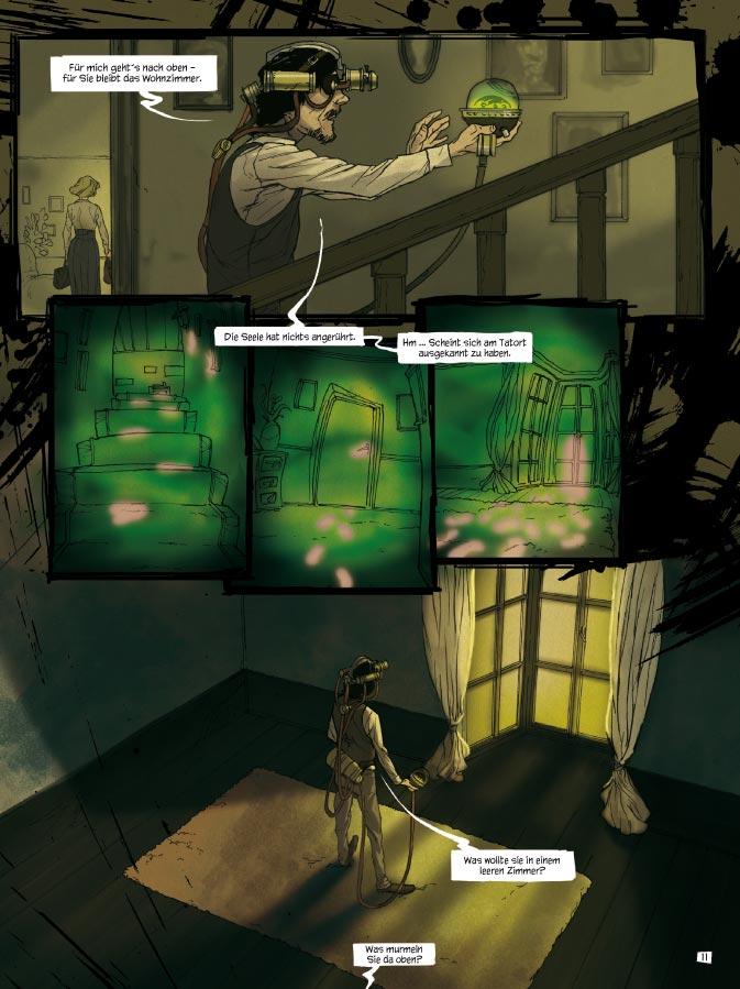 Seite aus Steam Noir: Das Kupferherz 1