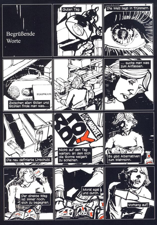 Seite aus dem Comic Ich hab die Unschuld kotzen sehen