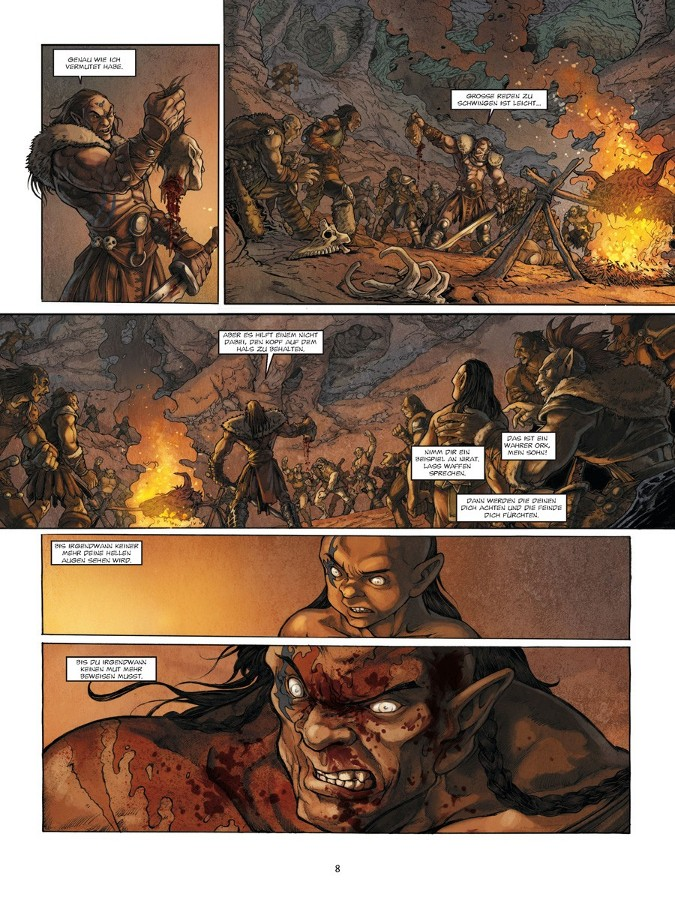 Seite aus Der Krieg der Orks