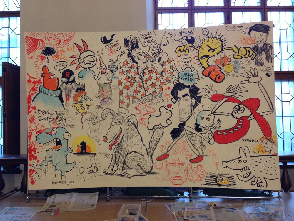 Künstlerwand im Alten Rathaus beim CFM 2013