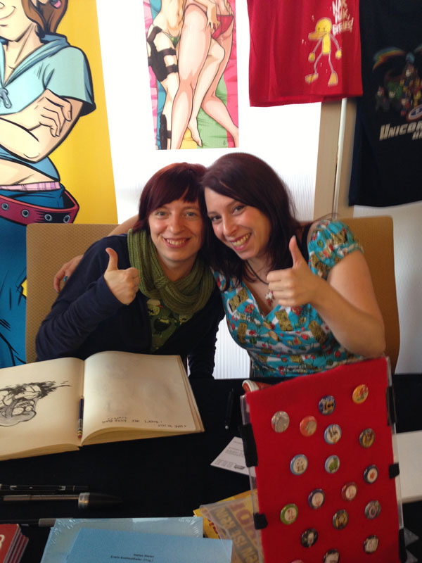Comicfestival München 2013, Anna-Maria Jung und Sarah Burrini