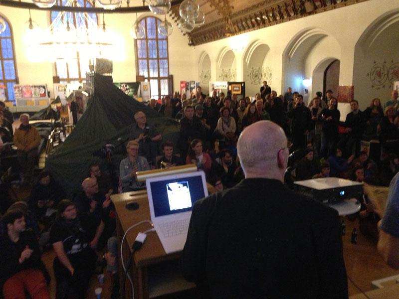 Die ICOM-Preisverleihung 2013 von der Bühne aus