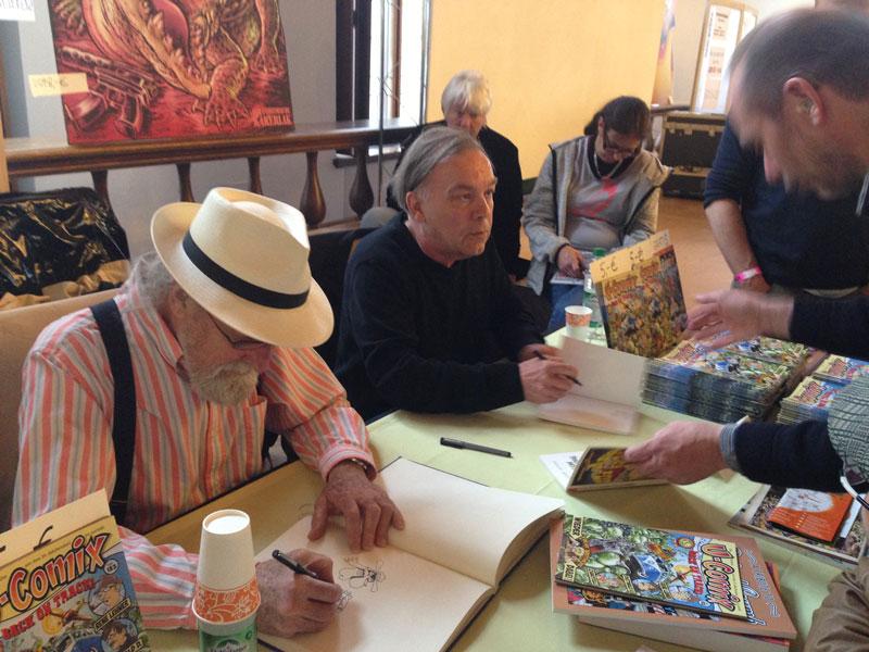 Gilbert Shelton und Gerhard Seyfried auf dem Comicfestival München 2013