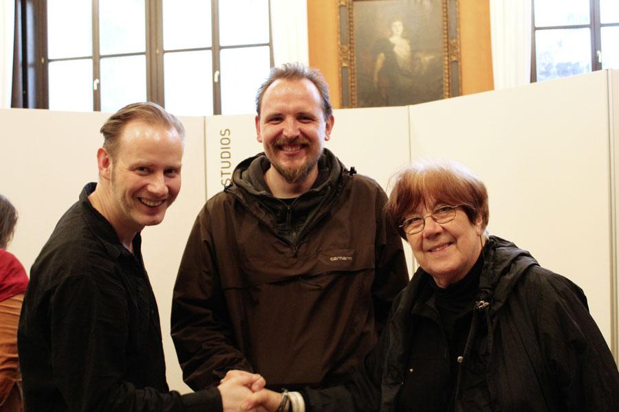 Alles Preisträger: Ulf S. Graupner, Sascha Wüstefeld und Lona Rietschel