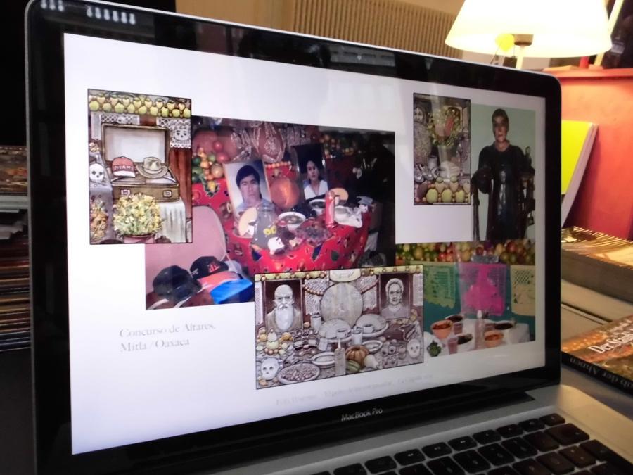 Präsentation am Laptop von Felix Pestemer
