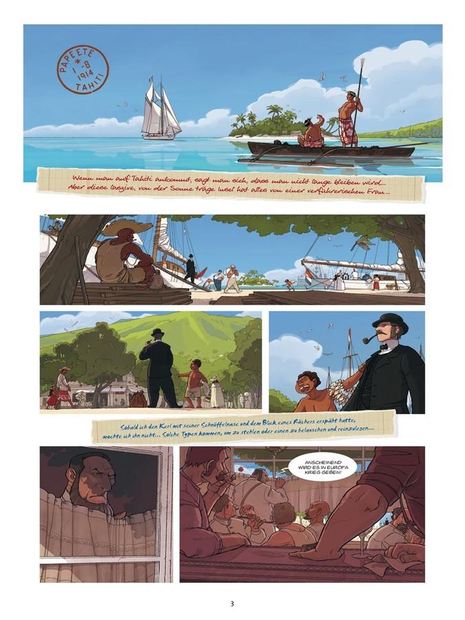 Seite aus Tatort Tahiti 1914 1