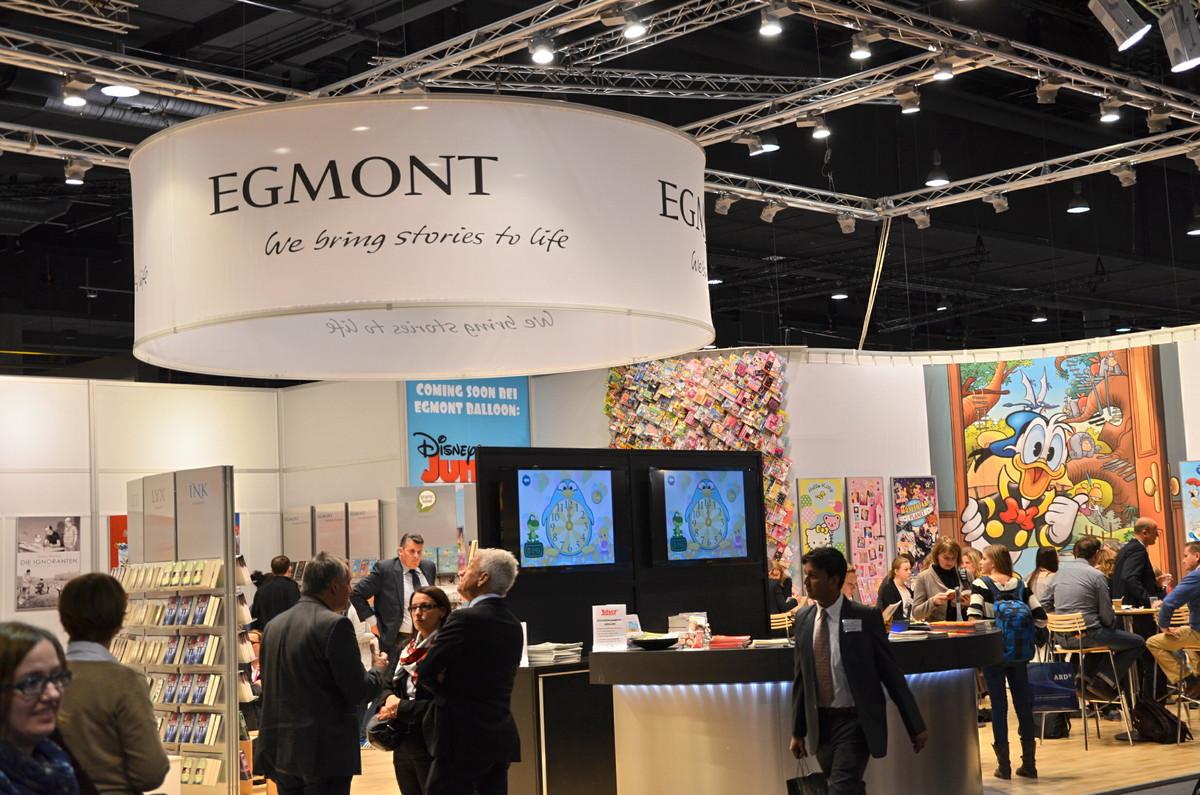Der Messestand von Egmont