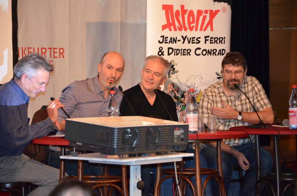 Asterix-Pressekonferenz am Samstag