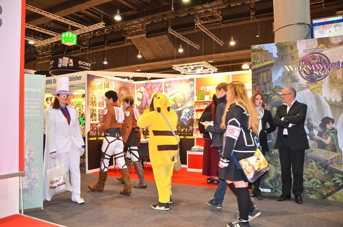 Direkt neben der Bühne mit Asterix und den Simpsons flanierten Pikachu und allerhand andere japanische Comicfiguren
