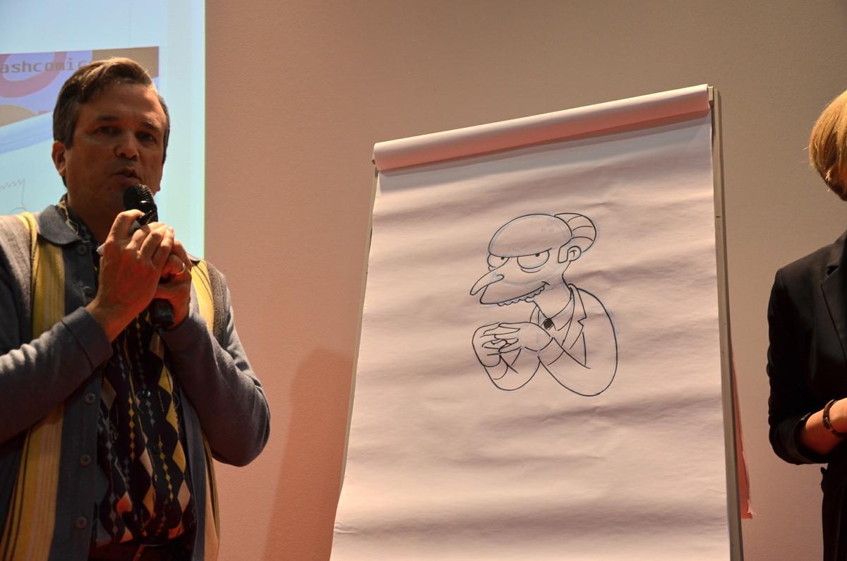 Bill Morrison zeichnet Mr. Burns. Ausgezeichnet!