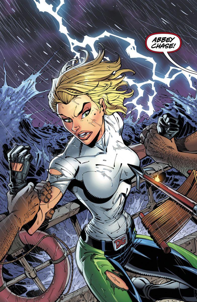 Seite aus Danger Girl: Trinity