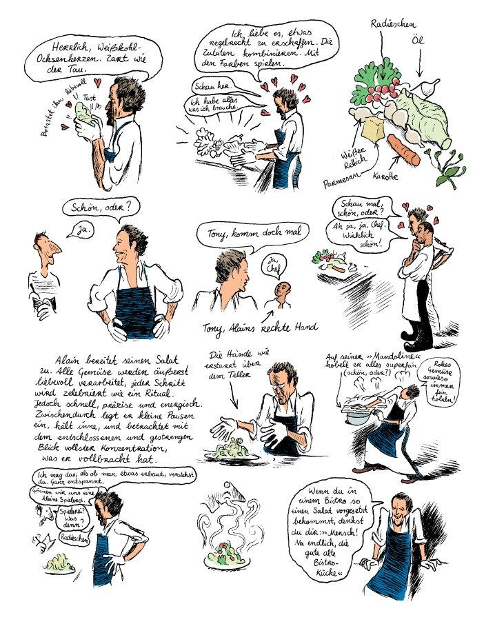 Seite aus In der Küche mit Alain Passard