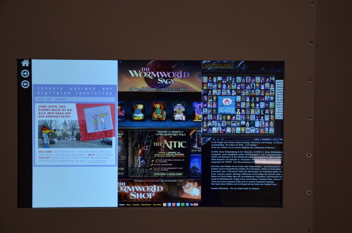 Bildschirm mit digitalen Comics