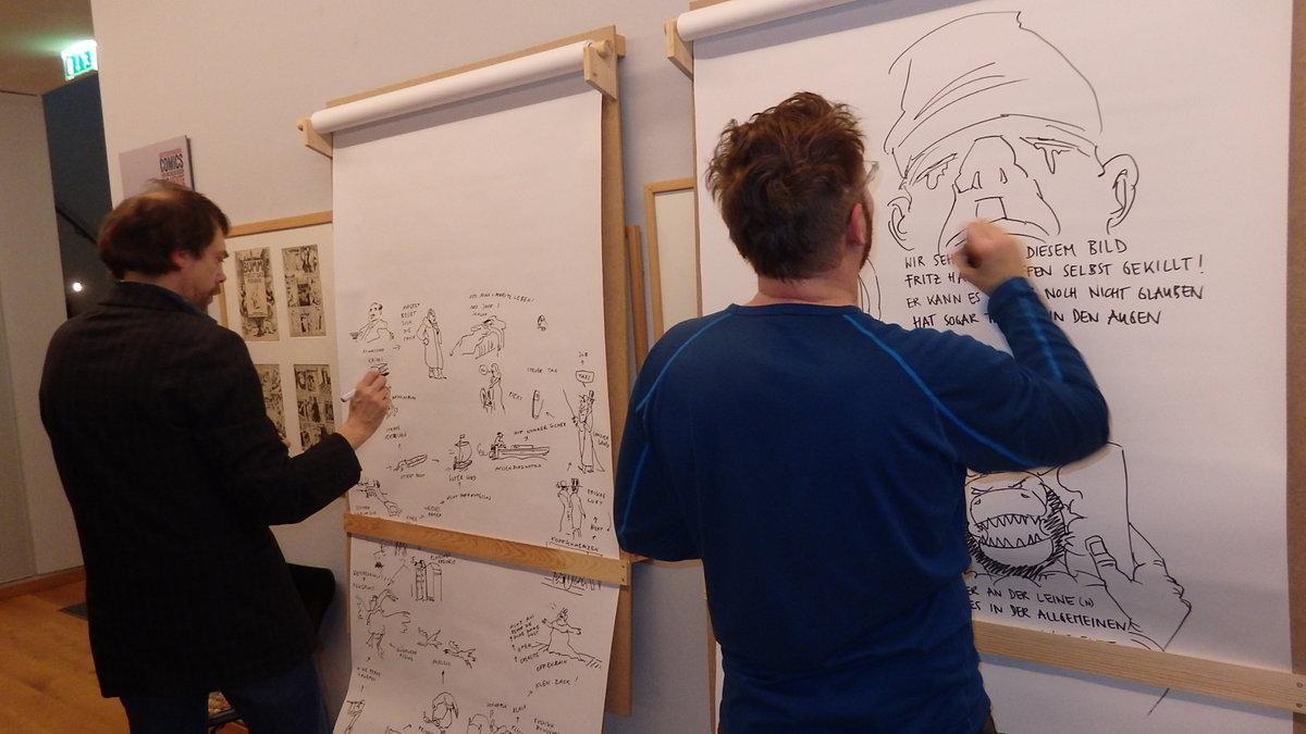 Ueding & Pestemer zeichnen ihre Version von Max und Moritz 2014