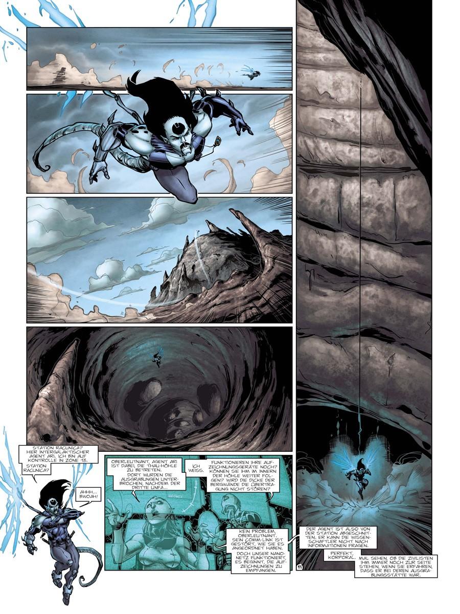 Seite aus 42 intergalaktische Agenten 2
