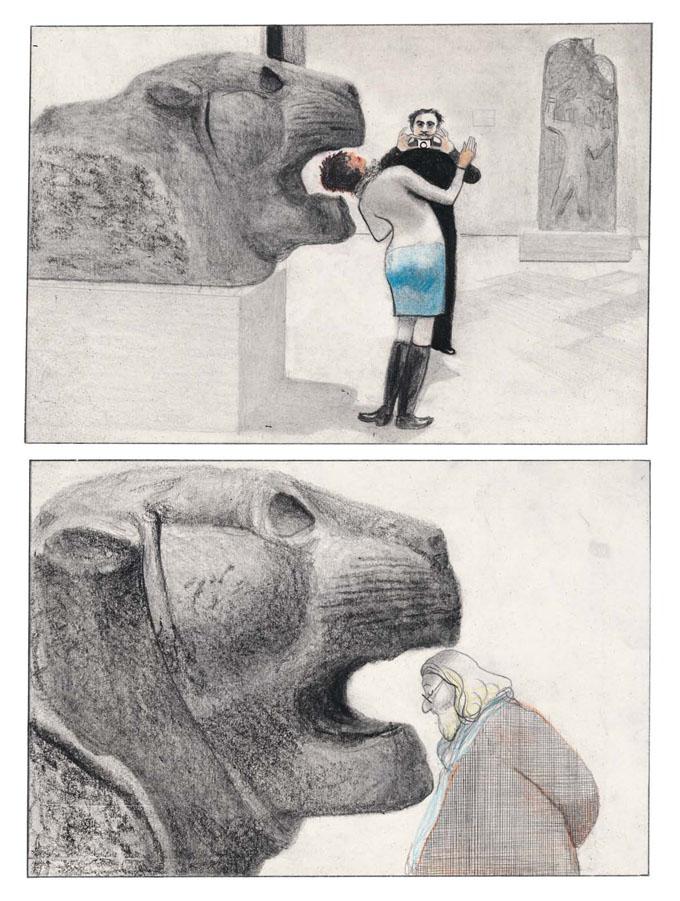 Seite aus Einmal durch den Louvre