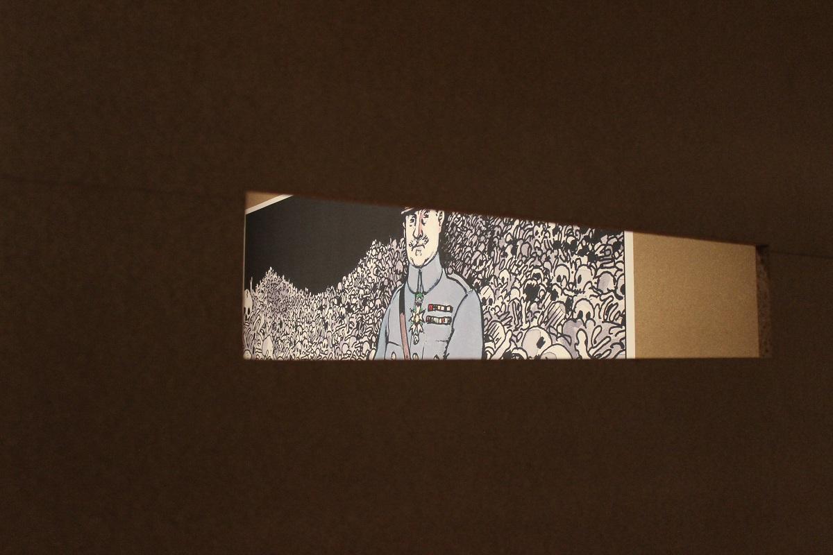 In der Ausstellung Jacques Tardi und der Erste Weltkrieg