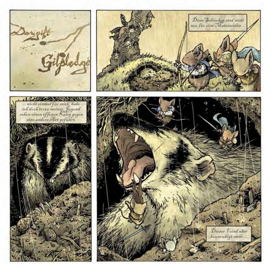 Seite aus Mouse Guard – Die schwarze Axt