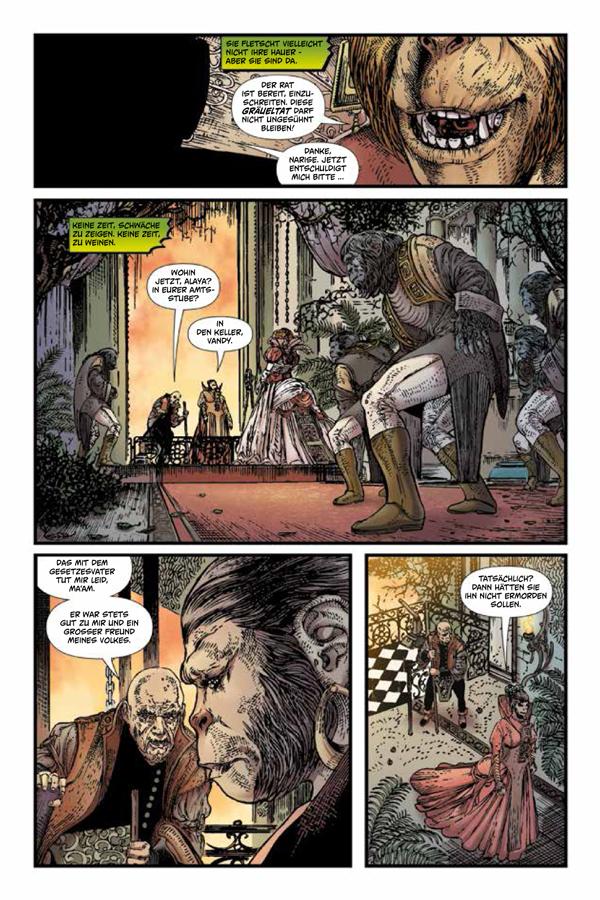 Seite aus Planet der Affen – Die Chroniken von Mak
