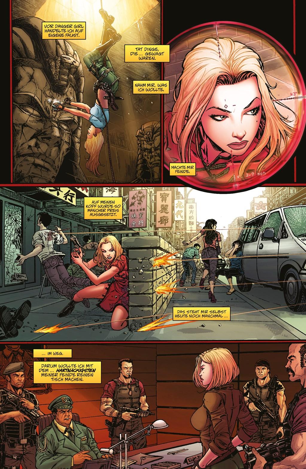Seite aus Danger Girl und Die Armee der Finsternis