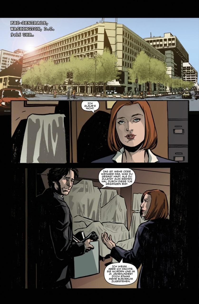 Seite aus Akte X Staffel 10 2