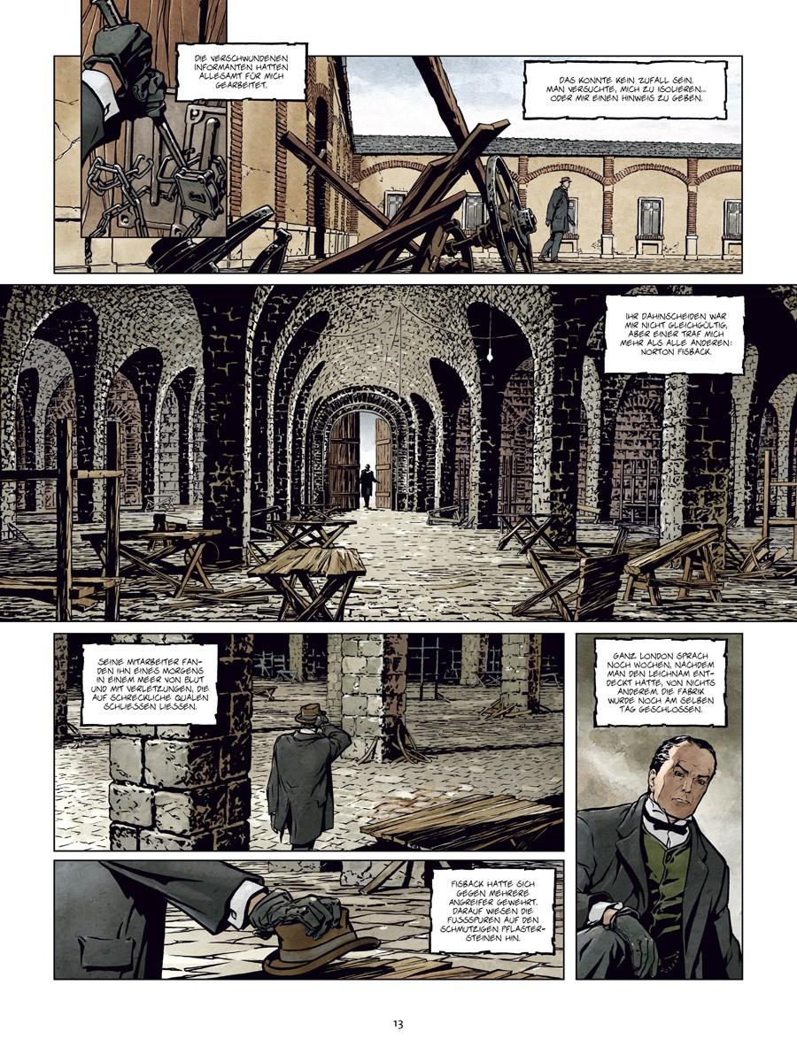 Seite aus Sherlock Holmes und das Necronomicon