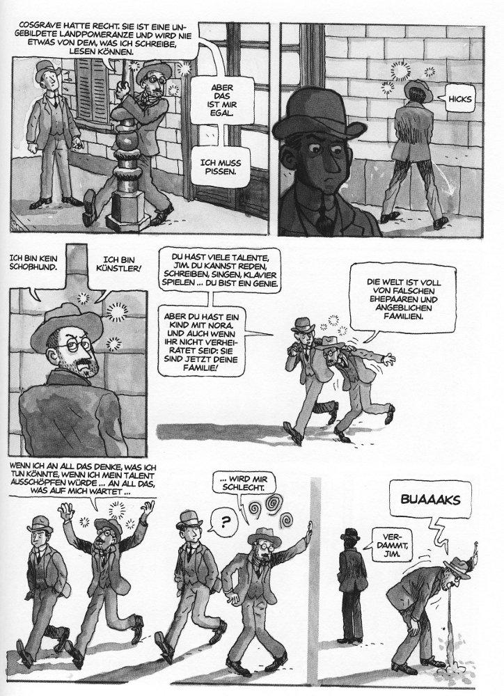 Seite aus James Joyce