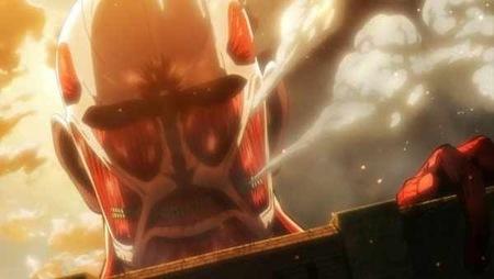 Szene aus dem Anime Attack on Titan