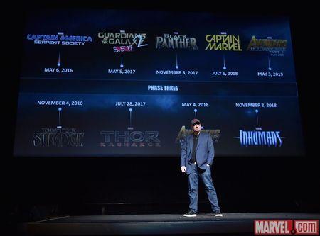 Marvels Filmboss Kevin Feige präsentiert die