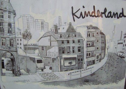 Originalzeichnung aus der Kinderland-Ausstellung