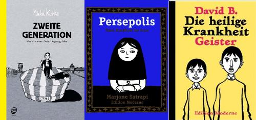 Autobiografische Comics von Michel Kichka, Marjane Satrapi und David B.