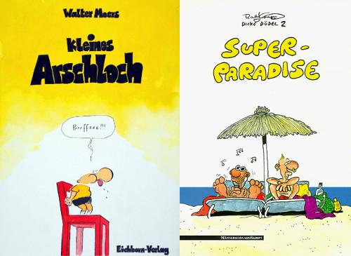Comics von Walter Moers und Ralf König