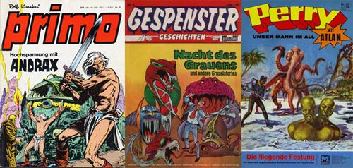Weniger aktuelle Genrecomics aus Deutschland